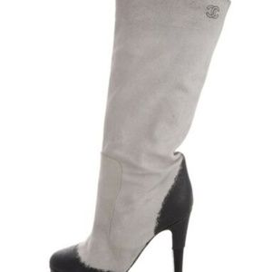 CHANEL Painted Suede Boots size 7 (37)